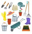 garden tool gardening equipment rake or vector image