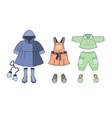 girls clothes set vector image vector image