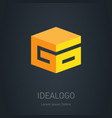 go - initial 3d logo design element or 3d icon g vector image vector image