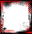 grunge black and red elements frame vector image vector image