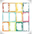 grunge frames collection color palette vector image vector image