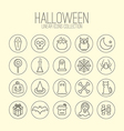 Halloween Linear Icons vector image