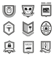 Handshake insurance badges vector image vector image