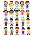 Happy children collection set vector image vector image