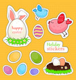 happy easter stickers vector image