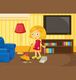 Helping at home vector | Price: 3 Credits (USD $3)