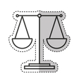 justice scale isolated icon vector image