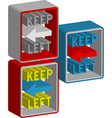 Keep left vector image vector image