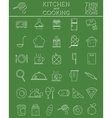 Kitchen and Cooking outline icons set Morning vector image vector image