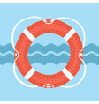 lifebuoy with rope isolated on vector image