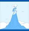 man mountain peak successful businessman winner vector image