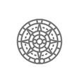 mayan calendar mexican ethnic ornament line icon vector image