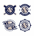 modern professional emblems set for baseball game vector image vector image
