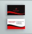 modern red and black business card design vector image vector image