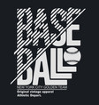 new york sport t-shirt typography baseball print vector image vector image