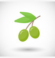 olive branch flat icon vector image vector image