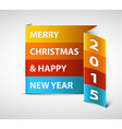Original New Year 2015 card vector image