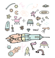 Outer Space Doodles vector image vector image