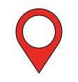 pin pointer location icon vector image vector image