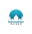 ramadan blue eclips vector image vector image
