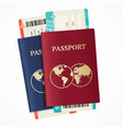realistic international passport set vector image vector image
