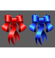 red and blue ribbons EPS10 vector image vector image