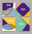 retro design templates for brochure covers vector image vector image