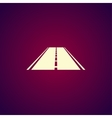 Road icon Flat vector image vector image