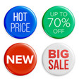 sale buttons set super sale and special vector image vector image