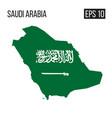 saudi arabia map border with flag eps10 vector image
