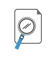 search magnifying glass with paper vector image vector image