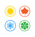 set four seasons icons vector image vector image