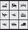 set of 9 editable shipment icons includes symbols vector image vector image