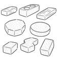 set of brick vector image vector image