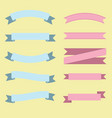 set of flat ribbons vector image