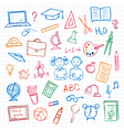 Set of school sign and symbol vector image