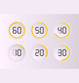 set timers sign icon vector image