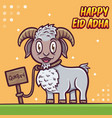 sheep greeting happy eid al adha mubarak vector image vector image