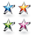 shiny stars vector image vector image