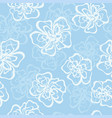 silhouette decorative flower seamless pattern vector image vector image