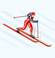 skier cross-country winter sports vector image