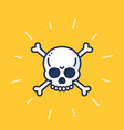 skull and bones art danger sign vector image vector image
