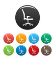 soft chair icons set color vector image vector image