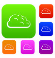 storm cloud set color collection vector image vector image