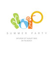 summer party concept vector image vector image