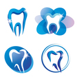 teeth logo set vector image vector image