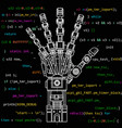 the drawing model of the robot arm this vector image vector image