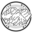 The element of the logo with the mountains The vector image vector image