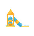 tube water slides with pools fun attraction for vector image vector image
