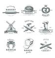 Vintage Bakery Label Set vector image vector image